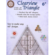 Clearview Triangle 6 Inch - 60 Acrylic Ruler (BOK)