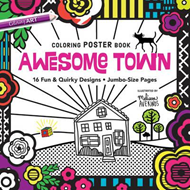 Awesome Town Coloring Poster Book (BOK)