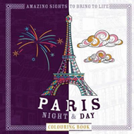 Paris Night & Day Colouring Book (BOK)