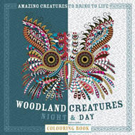 Woodland Creatures Night & Day Colouring Book (BOK)