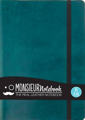 Monsieur Notebook - Real Leather A5 Turquoise Plain (BOK)