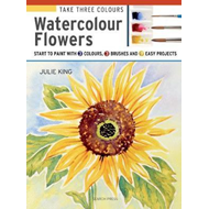 Take Three Colours: Watercolour Flowers (BOK)