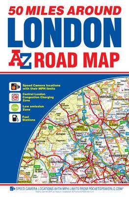 50 Miles Around London Road Map (BOK)