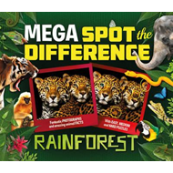 Mega Spot the Difference: Rainforest (BOK)