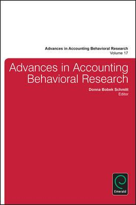 Advances in Accounting Behavioral Research (BOK)