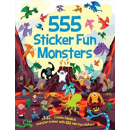 555 Sticker Fun Monsters (BOK)