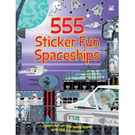 555 Sticker Fun Spaceships (BOK)