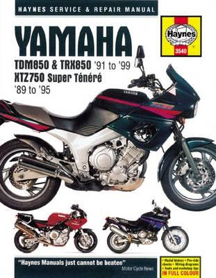 Yamaha TDM850, TRX850 & XTZ750 Service and Repair Manual (BOK)