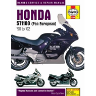 Honda ST1100 Pan European V-Fours Motorcycle Service and Rep (BOK)