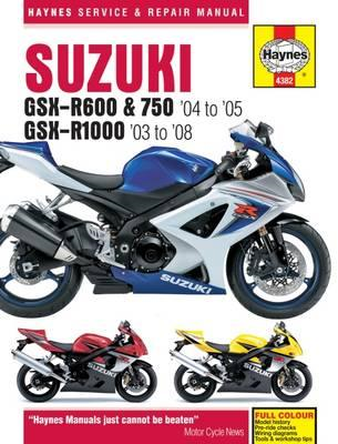 Suzuki GSX-R600/750 Motorcycle Repair Manual (BOK)