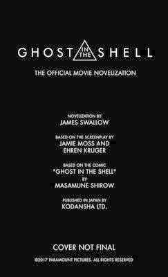 Ghost in the Shell: The Official Movie Novelization (BOK)