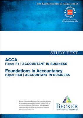 ACCA Approved - F1 Accountant in Business (FIA: FAB) (BOK)
