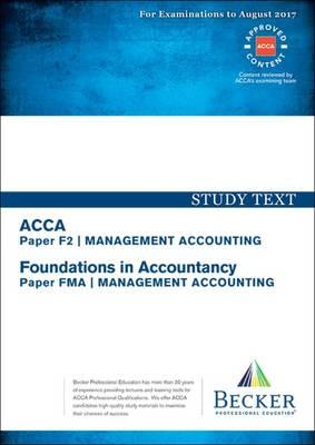 ACCA Approved - F2 Management Accounting (FIA: FMA) (BOK)