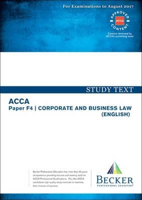 ACCA Approved - F4 Corporate & Business Law (BOK)