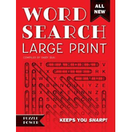 Word Search Large Print (Red) (BOK)