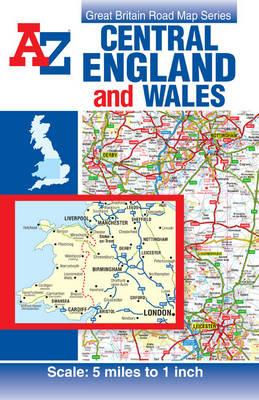 Central England & Wales Road Map (BOK)