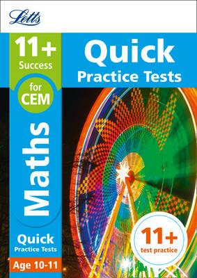 11+ Maths Quick Practice Tests Age 10-11 for the CEM tests (BOK)