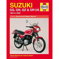 Suzuki GS, GN, GZ and DR125 Service and Repair Manual (BOK)