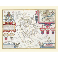 John Speeds Map of Bedfordshire 1611 (BOK)