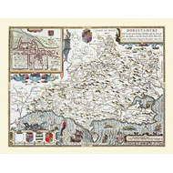 John Speeds Map of Dorsetshire 1611 (BOK)