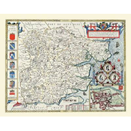 John Speeds Map of Essex 1611 (BOK)