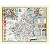 John Speeds Map of Northumberland 1611 (BOK)
