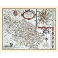 John Speed's Map of the West Riding of Yorkshire 1611 (BOK)
