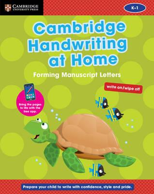 Cambridge Handwriting at Home: Forming Manuscript Letters (BOK)