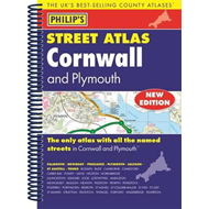 Produktbilde for Philip's Street Atlas Cornwall and Plymouth (BOK)