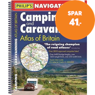 Produktbilde for Philip's Navigator Camping and Caravanning Atlas of Britain: Spiral 3rd Edition (BOK)