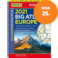 Produktbilde for 2021 Philip's Big Road Atlas Europe - (A3 Spiral binding) (BOK)