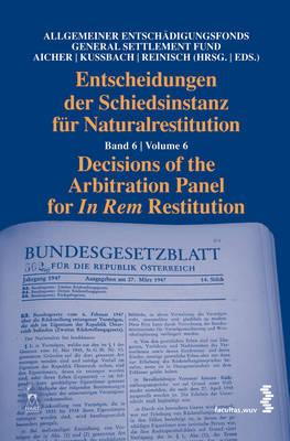 Decisions of the Arbitration Panel for In Rem Restitution, V (BOK)