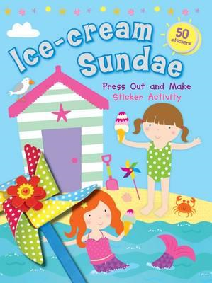 Ice-cream Sundae Press Out and Make Sticker Activity (BOK)