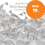 Produktbilde for Millie Marotta's Wild Savannah - a colouring book adventure (BOK)