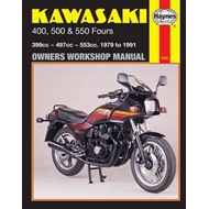 Kawasaki 400, 500 and 550 Fours 1979-88 Owner's Workshop Manual (BOK)