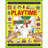 Sticker and Color-in Playbook: Playtime (BOK)