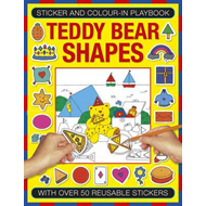 Sticker and Color-in Playbook: Teddy Bear Shapes (BOK)