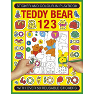Sticker and Colour-in Playbook: Teddy Bear 123 (BOK)