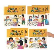Produktbilde for Finger Phonics books 1-7 - in Precursive Letters (British English edition) (BOK)