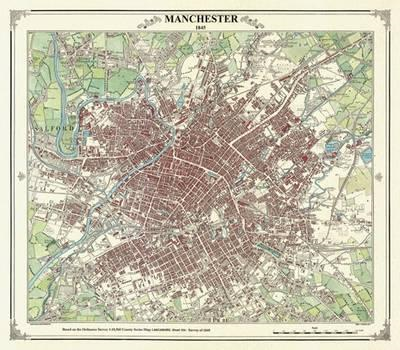 Manchester 1845 Map - Coloured (BOK)