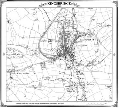 Kingsbridge Devon 1905 Map (BOK)