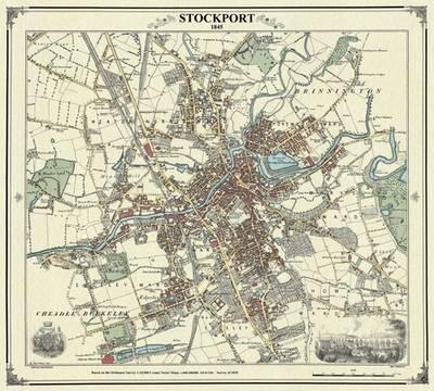 Stockport 1845 Map (BOK)