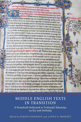 Middle English Texts in Transition (BOK)