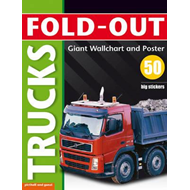 Fold-Out Trucks Sticker Book (BOK)