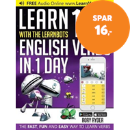 Produktbilde for Learn 101 English Verbs in 1 Day (BOK)