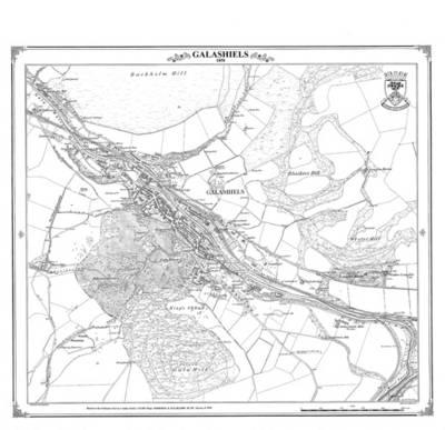 Galashiels 1858 Heritage Cartography Victorian Town Map (BOK)