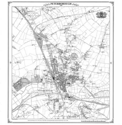 Peterborough 1885 Heritage Cartography Victorian Town Map (BOK)