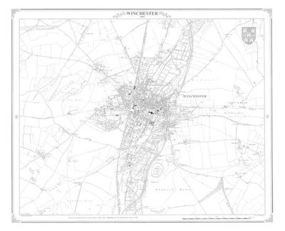 Winchester 1894 Heritage Cartography Victorian Town Map (BOK)