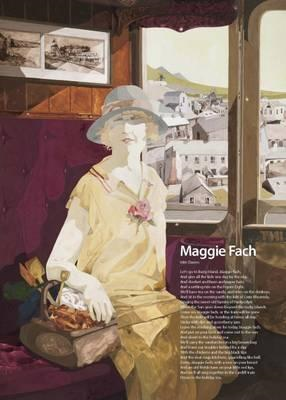 Let's Go to Barry Island, Maggie Fach by Idris Davies Poster (BOK)