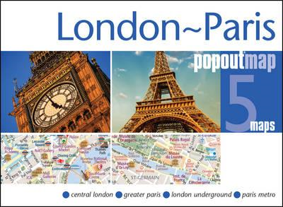 London & Paris PopOut Map (BOK)